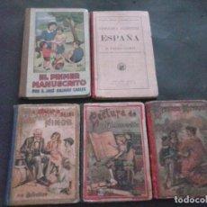 Libros antiguos: LIBROS ANTIGUOS DE VARIAS EPOCAS DE COLEGIO. Lote 105888403