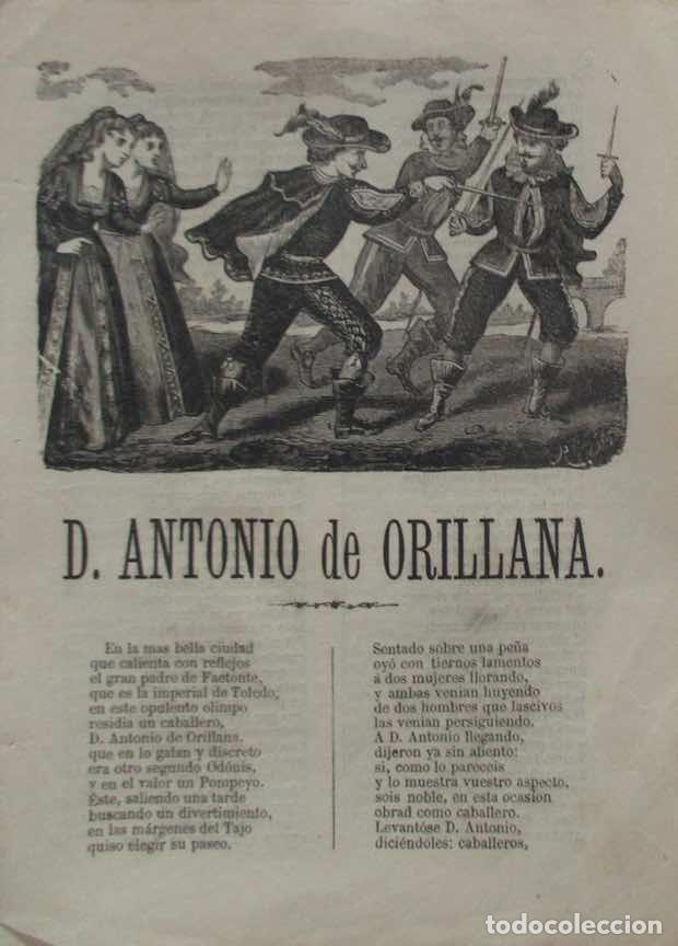 DON ANTONIO DE ORILLANA....TOLEDO - AÑO 1869 (Libros antiguos (hasta 1936), raros y curiosos - Literatura - Narrativa - Otros)