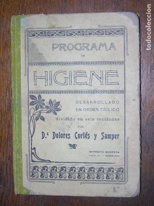 (F.1) PROGRAMA DE HIGIENE POR Dª DOLORES CORTES Y SAMPER AÑO 1905 (Libros Antiguos, Raros y Curiosos - Bellas artes, ocio y coleccionismo - Otros)