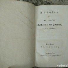 Libros antiguos: ANNALEN DER REGIERUNG KATHARINA DER ZWEYTEN, KAISERIN VON RUSSLAND. ERSTER BAND: GESETZGEBUNG. 1798. Lote 105905075
