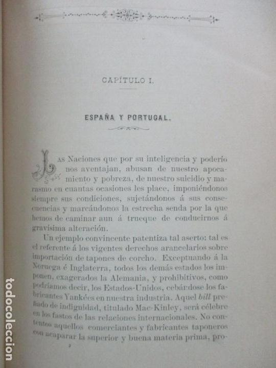 Libros antiguos: MEMORIA SOBRE LA LIGA ADUANERA HISPANO-PORTUGUESA. MARCIAL DE TRINCHERÍA Y DE BOLOS. 1893. - Foto 3 - 105906055