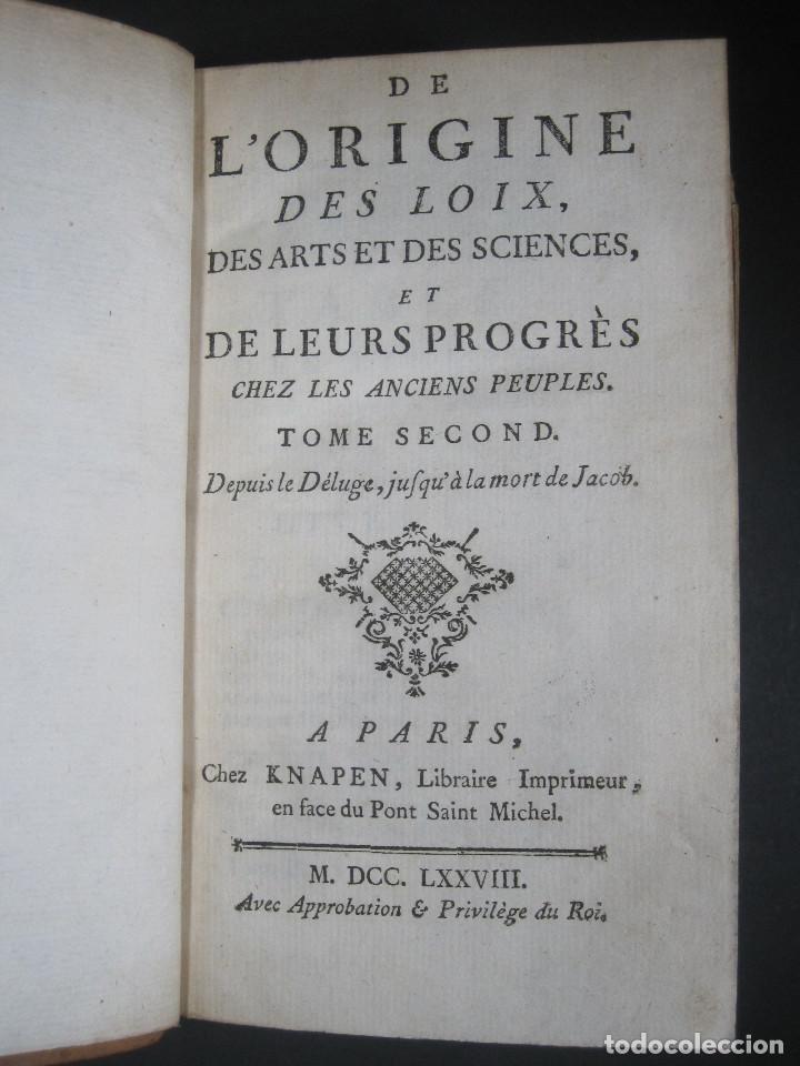 Libros antiguos: Año 1778 Botánica astronomía cirugía y navegación en el Antiguo Egipto Grecia Fenicia artes ciencias - Foto 6 - 106026795