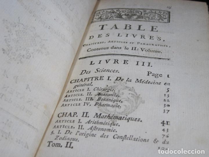 Libros antiguos: Año 1778 Botánica astronomía cirugía y navegación en el Antiguo Egipto Grecia Fenicia artes ciencias - Foto 8 - 106026795