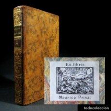 Libros antiguos: AÑO 1778 ORIGEN DE LA ESCRITURA ASTRONOMÍA NAVEGACIÓN EGIPTO GRECIA FENICIOS MEDICINA EX-LIBRIS. Lote 106073803