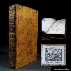Libros antiguos: AÑO 1778 ASTROMOMÍA MEDICINA NAVEGACIÓN ANTIGUA GRECIA BABILONIA FENICIA EGIPTO ARTES EX-LIBRIS. Lote 106088871