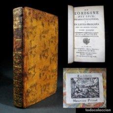 Libros antiguos: AÑO 1778 ASTRONOMÍA BABILONIA ANTIGUA GRECIA CALDEOS CHINA HERODOTO ARTES Y CIENCIAS PARÍS EX-LIBRIS. Lote 106095835