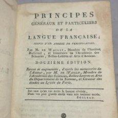 Libros antiguos: PRINCIPES GENERAUX ET PARTICULIERS DE LA LANGUE FRANCAISE PARIS 1808 M. DE WAILLY. Lote 106330787