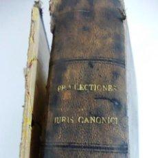 Libros antiguos: ANTIGUO LIBRO PRAELECTIONES JURIS CANONICI DECRETALIUM GREGORII IX EXACTAE. AÑO 1877. Lote 106394463