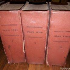 Libros antiguos: JUAN LEÓN,EL REY DE LA SERRANÍA.OBRA COMPLETA EN 3 TOMOS.JESUS G.RICOTE.(EDITORIAL CASTRO). Lote 106611374