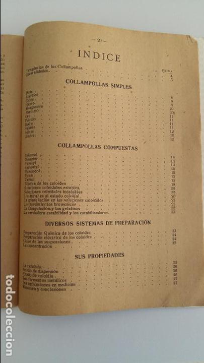 Libros antiguos: COLLAMPOLLAS (COLLEMPOULES) POR EL DOCTOR MANGET. PROGRESOS DE LA MEDICINA COLOIDAL - Foto 2 - 106621891