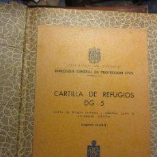 Libros antiguos: ANTIGUO LIBRO CONSTRUCCION REFUGIOS BUNKER 1965 PARA TIEMPOS DE GUERRA 58 PAGINAS CON ESQUEMAS. Lote 133506317