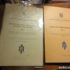 Libros antiguos: LOTE ANTIGUOS LIBROS PROTECCION AGRICULTURA GANADERIA PERSONAL CIVIL MADRID 1965. Lote 106673463