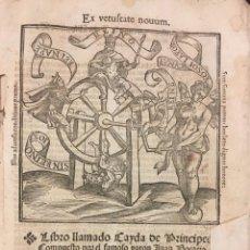 Libros antiguos: LIBRO LLAMADO CAYDA DE PRÍNCIPES. JUAN BOCCACCIO.1552. Lote 106701895