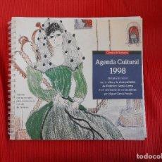 Libros antiguos: AGENDA CULTURAL 1998 VIDA Y OBRA PICTORICA DE FEDERICO GARCIA LORCA. Lote 106901639