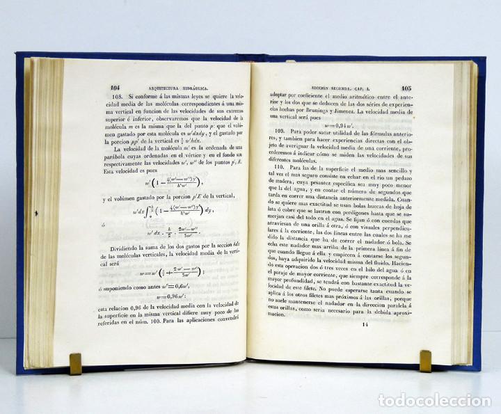 Libros antiguos: Celestino del Piégalo. Introducción al estudio de la arquitectura hidráulica. 1841. DEDIC. AUTÓGRAFA - Foto 2 - 107067807