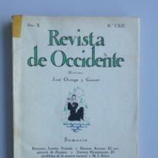 Libros antiguos: REVISTA DE OCCIDENTE Nº 112 (CXII) // 1932 // DÁMASO ALONSO // BENJAMÍN JARNES. Lote 107111944