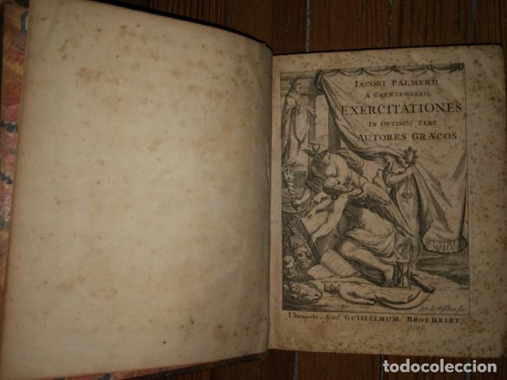 IACOBI PALMERII A GRENTEMESNII, EXERCITATIONES IN OPTIMOS FERE. AUTORES GRAECOS. 1668 (Libros Antiguos, Raros y Curiosos - Pensamiento - Otros)