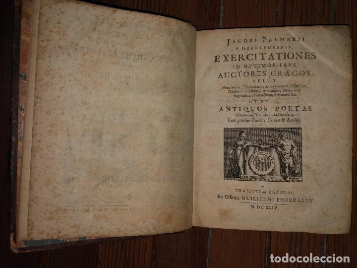 Libros antiguos: Iacobi Palmerii A Grentemesnii, Exercitationes in Optimos Fere. Autores Graecos. 1668 - Foto 5 - 107159407