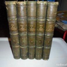 Libros antiguos: OBRAS DE DON MANUEL BRETON DE LOS HERREROS OBRA COMPLETA 5 TOMOS 1183-1884.IMPRENTA DE MIGUEL GINEST. Lote 107350827