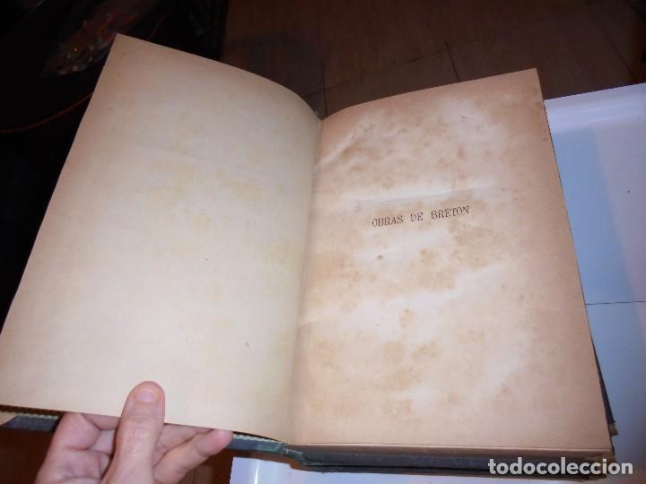 Libros antiguos: OBRAS DE DON MANUEL BRETON DE LOS HERREROS OBRA COMPLETA 5 TOMOS 1183-1884.IMPRENTA DE MIGUEL GINEST - Foto 27 - 107350827