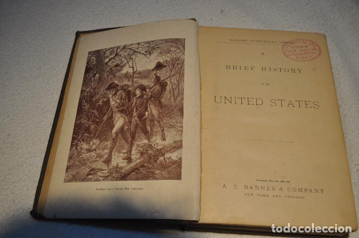 Libros antiguos: a brief history of the united states - a.s. barnes & company 1885 AHUM - Foto 6 - 107385623