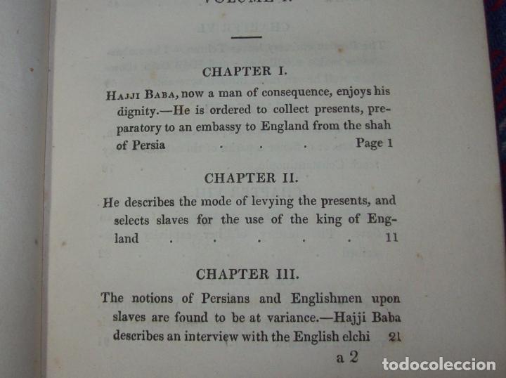 Libros antiguos: THE ADVENTURES OF HAJJI BABA,OF ISPAHAN,IN ENGLAND. 2 VOLÚMENES. JOHN MURRAY. 1828. UNA JOYA!!!!! - Foto 5 - 107546663