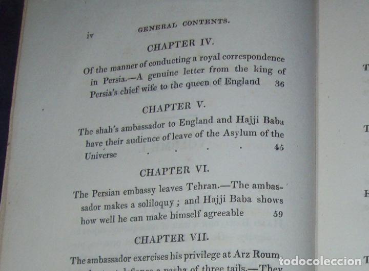 Libros antiguos: THE ADVENTURES OF HAJJI BABA,OF ISPAHAN,IN ENGLAND. 2 VOLÚMENES. JOHN MURRAY. 1828. UNA JOYA!!!!! - Foto 7 - 107546663