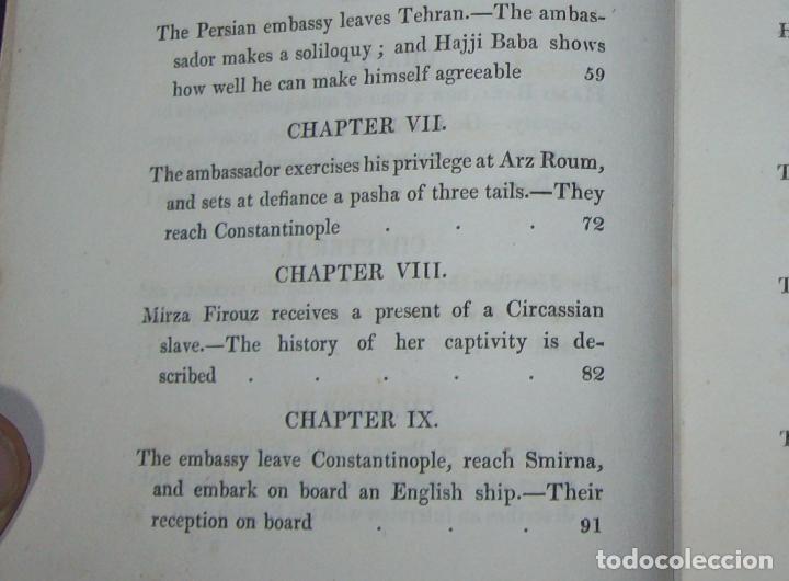 Libros antiguos: THE ADVENTURES OF HAJJI BABA,OF ISPAHAN,IN ENGLAND. 2 VOLÚMENES. JOHN MURRAY. 1828. UNA JOYA!!!!! - Foto 8 - 107546663
