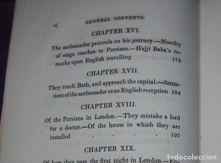 Libros antiguos: THE ADVENTURES OF HAJJI BABA,OF ISPAHAN,IN ENGLAND. 2 VOLÚMENES. JOHN MURRAY. 1828. UNA JOYA!!!!! - Foto 12 - 107546663