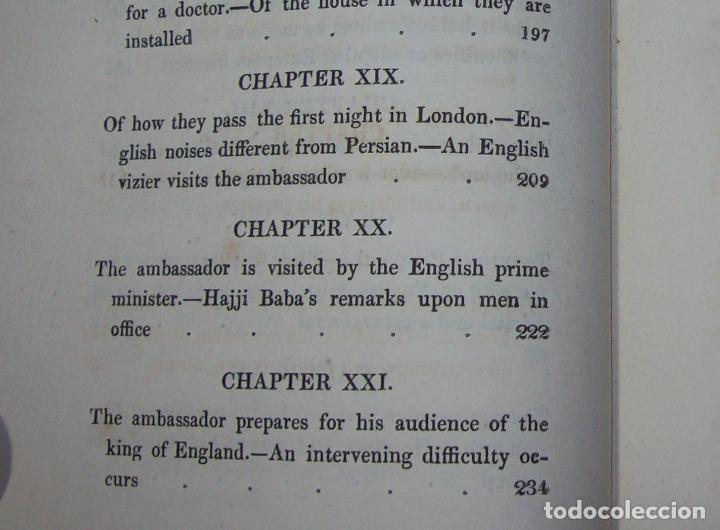 Libros antiguos: THE ADVENTURES OF HAJJI BABA,OF ISPAHAN,IN ENGLAND. 2 VOLÚMENES. JOHN MURRAY. 1828. UNA JOYA!!!!! - Foto 13 - 107546663