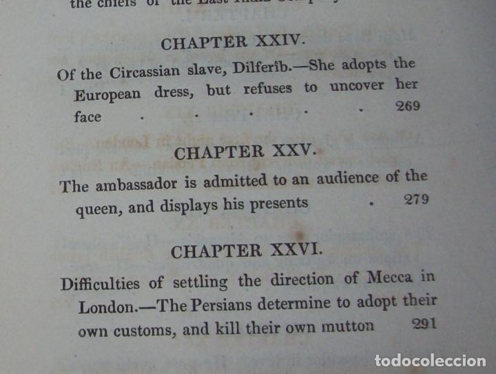 Libros antiguos: THE ADVENTURES OF HAJJI BABA,OF ISPAHAN,IN ENGLAND. 2 VOLÚMENES. JOHN MURRAY. 1828. UNA JOYA!!!!! - Foto 15 - 107546663