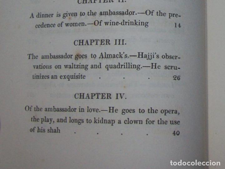 Libros antiguos: THE ADVENTURES OF HAJJI BABA,OF ISPAHAN,IN ENGLAND. 2 VOLÚMENES. JOHN MURRAY. 1828. UNA JOYA!!!!! - Foto 18 - 107546663
