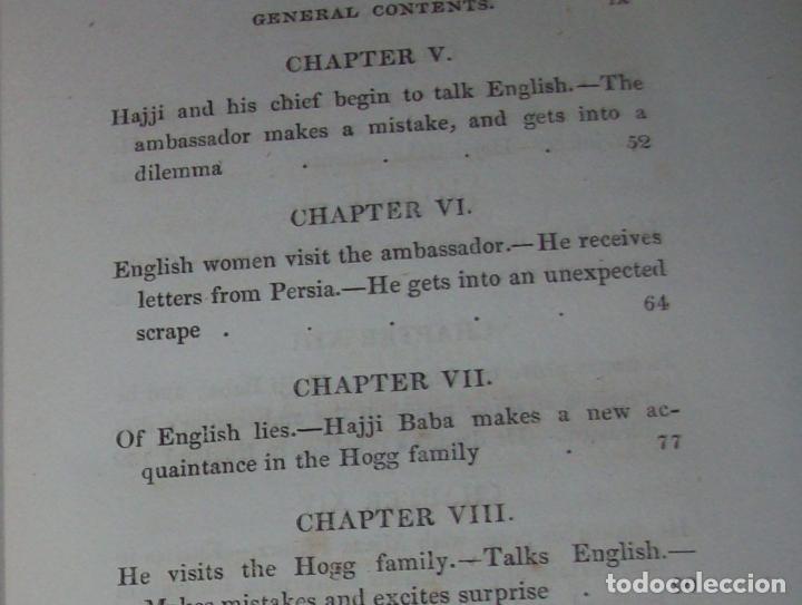 Libros antiguos: THE ADVENTURES OF HAJJI BABA,OF ISPAHAN,IN ENGLAND. 2 VOLÚMENES. JOHN MURRAY. 1828. UNA JOYA!!!!! - Foto 19 - 107546663