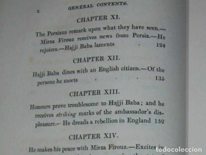 Libros antiguos: THE ADVENTURES OF HAJJI BABA,OF ISPAHAN,IN ENGLAND. 2 VOLÚMENES. JOHN MURRAY. 1828. UNA JOYA!!!!! - Foto 22 - 107546663