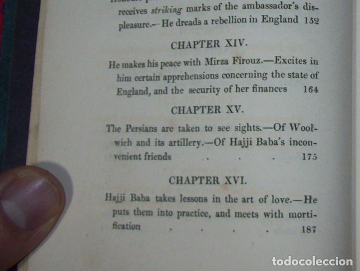 Libros antiguos: THE ADVENTURES OF HAJJI BABA,OF ISPAHAN,IN ENGLAND. 2 VOLÚMENES. JOHN MURRAY. 1828. UNA JOYA!!!!! - Foto 23 - 107546663