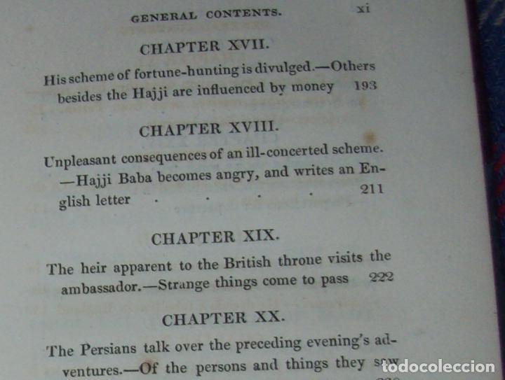 Libros antiguos: THE ADVENTURES OF HAJJI BABA,OF ISPAHAN,IN ENGLAND. 2 VOLÚMENES. JOHN MURRAY. 1828. UNA JOYA!!!!! - Foto 24 - 107546663