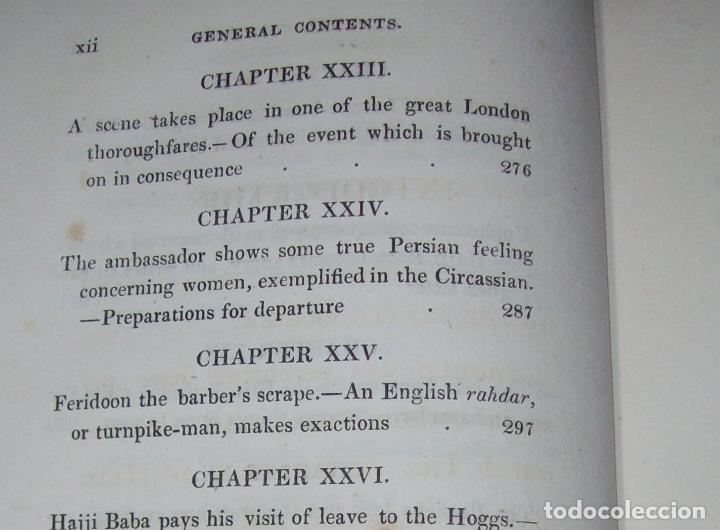 Libros antiguos: THE ADVENTURES OF HAJJI BABA,OF ISPAHAN,IN ENGLAND. 2 VOLÚMENES. JOHN MURRAY. 1828. UNA JOYA!!!!! - Foto 27 - 107546663