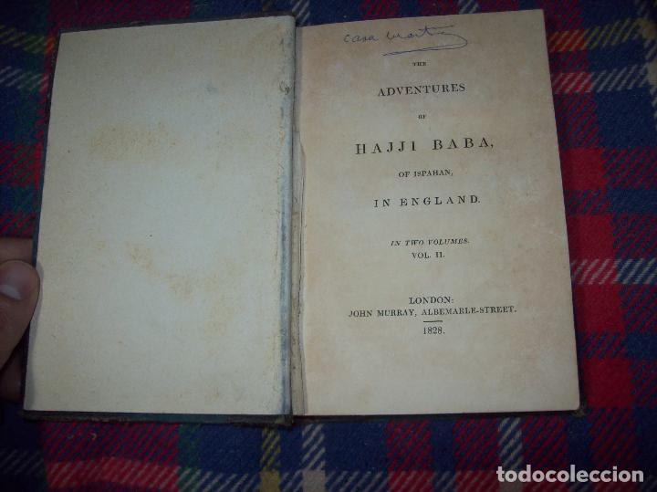 Libros antiguos: THE ADVENTURES OF HAJJI BABA,OF ISPAHAN,IN ENGLAND. 2 VOLÚMENES. JOHN MURRAY. 1828. UNA JOYA!!!!! - Foto 36 - 107546663
