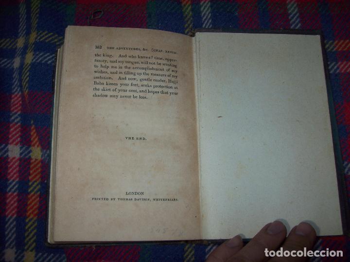 Libros antiguos: THE ADVENTURES OF HAJJI BABA,OF ISPAHAN,IN ENGLAND. 2 VOLÚMENES. JOHN MURRAY. 1828. UNA JOYA!!!!! - Foto 40 - 107546663