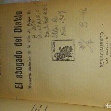 Libros antiguos: EL ABOGADO DEL DIABLO. Lote 107646375
