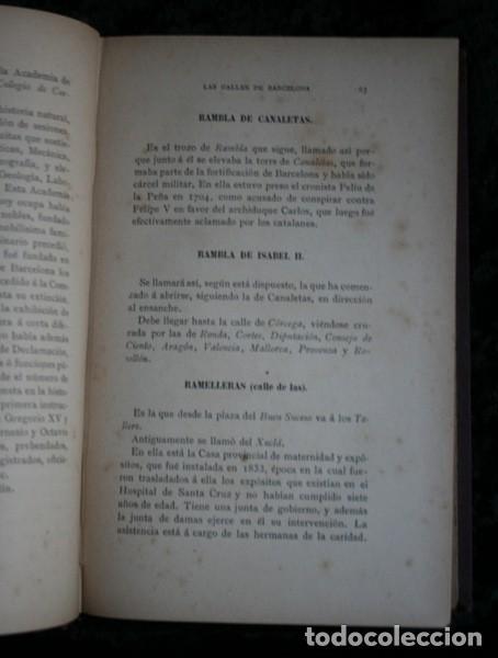 Libros antiguos: LAS CALLES DE BARCELONA EN 1865 - LA PRIMAVERA DEL ULTIMO TROVADOR - BALAGUER - 1888 - Foto 5 - 107648439