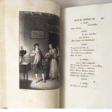 Libros antiguos: MORATÍN : OBRAS. TOM. II: COMEDIAS ORIGINALES. (1830) GRABADOS. ENCUADERNACIÓN ROMÁNTICA. Lote 107732035