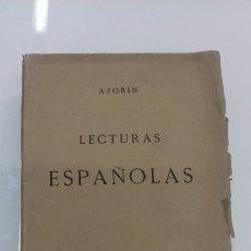 Libros antiguos: AZORIN LECTURAS ESPAÑOLAS MADRID 1912 PRIMERA EDICION REVISTA DE ARCHIVOS. Lote 107742698