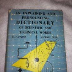 Libros antiguos: DICCIONARIO DE PALABRAS CIENTÍFICAS Y TECNICAS, EN INGLÉS, 1952, 1300 ILUSTRACIONES. Lote 107762211