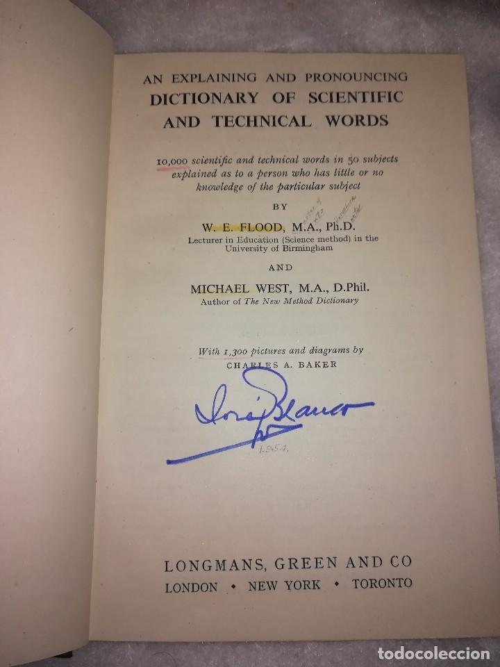 Libros antiguos: diccionario de palabras científicas y tecnicas, en inglés, 1952, 1300 ilustraciones - Foto 3 - 107762211