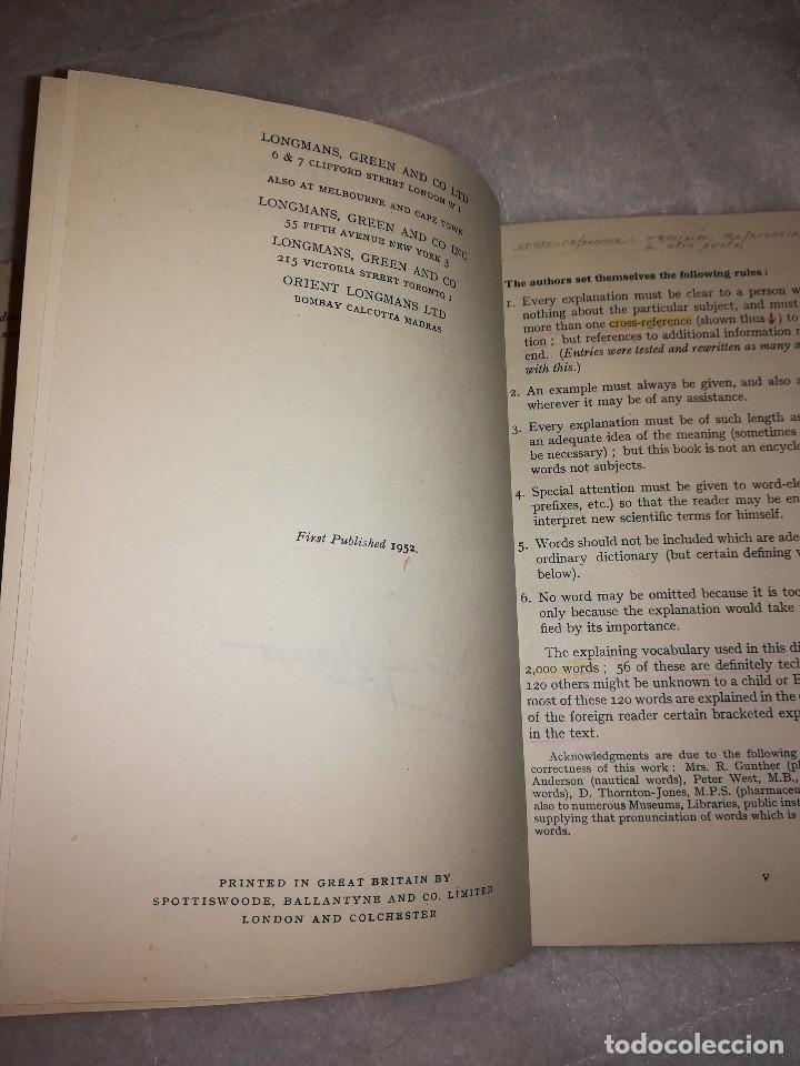 Libros antiguos: diccionario de palabras científicas y tecnicas, en inglés, 1952, 1300 ilustraciones - Foto 4 - 107762211