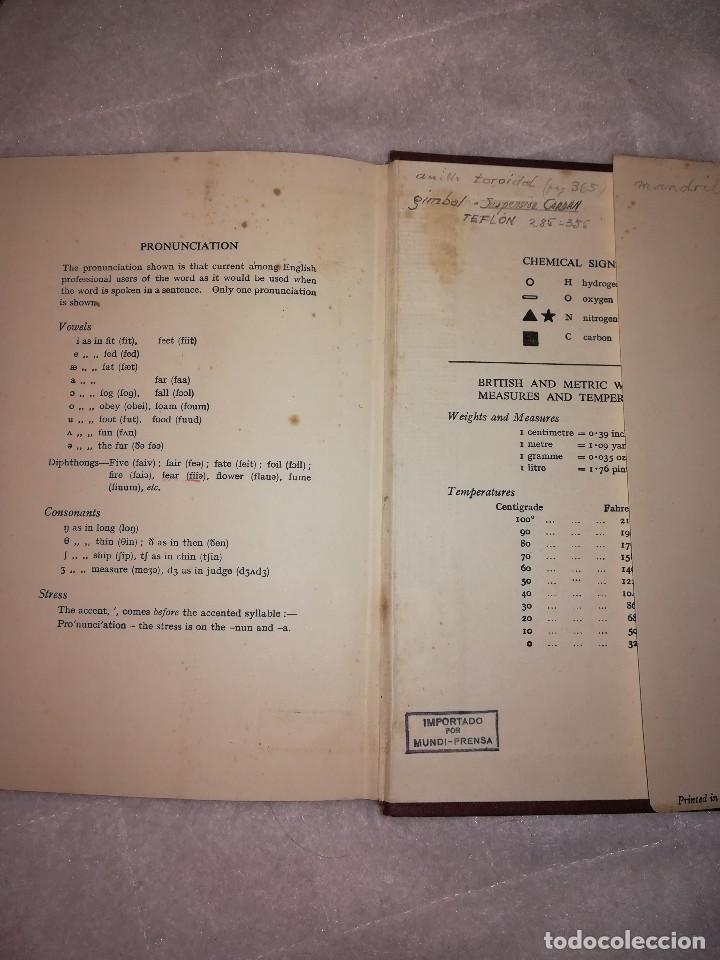 Libros antiguos: diccionario de palabras científicas y tecnicas, en inglés, 1952, 1300 ilustraciones - Foto 5 - 107762211