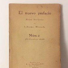 Libros antiguos: LEDESMA-MIRANDA : EL NUEVO PREFACIO. HOJAS LITERARIAS… (NÚM. 2. DICIEMBRE 1928. Lote 107813395