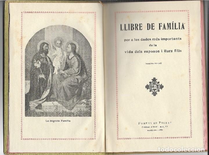 Libros antiguos: LLIBRE DE LA FAMILIA - FOMENT DE PIETAT - BARCELONA - 1936 - Foto 2 - 107859463