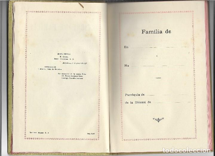 Libros antiguos: LLIBRE DE LA FAMILIA - FOMENT DE PIETAT - BARCELONA - 1936 - Foto 3 - 107859463